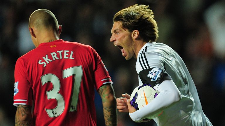 Michu ensured match finished 2-2 at the Liberty Stadium