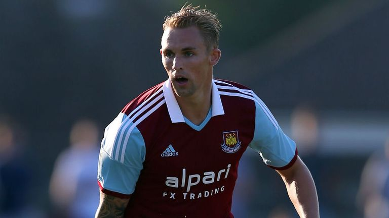 Jack Collison: Keen to keep his place in the West Ham starting XI
