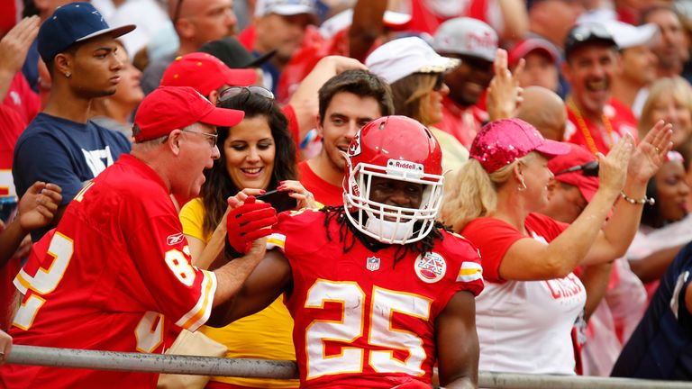 Jamaal Charles will carry Kansas City