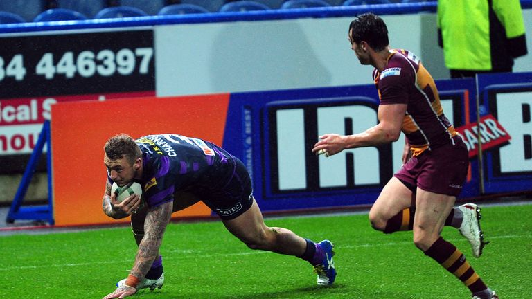Josh Charnley (L): Scored two tries in Wigan's victory at John Smith's Stadium