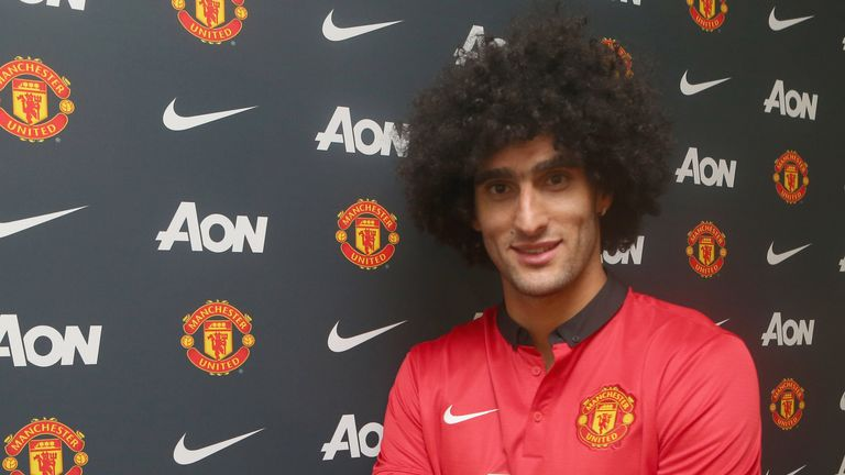 Marouane Fellaini: Belgium midfielder's move to Old Trafford came late on deadline day