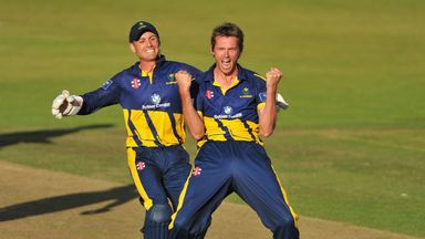 Michael Hogan: Glamorgan seamer sealed victory with four wickets in four overs
