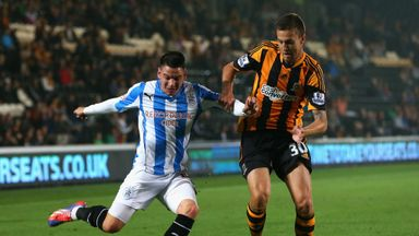 Conor Henderson (right): Tracks Huddersfield's Adam Hammill