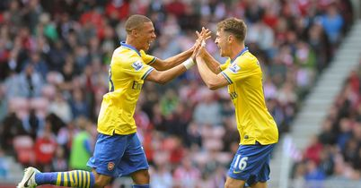 Kieran Gibbs and Aaron Ramsey: Arsenal midfielder returns to face his former club Cardiff