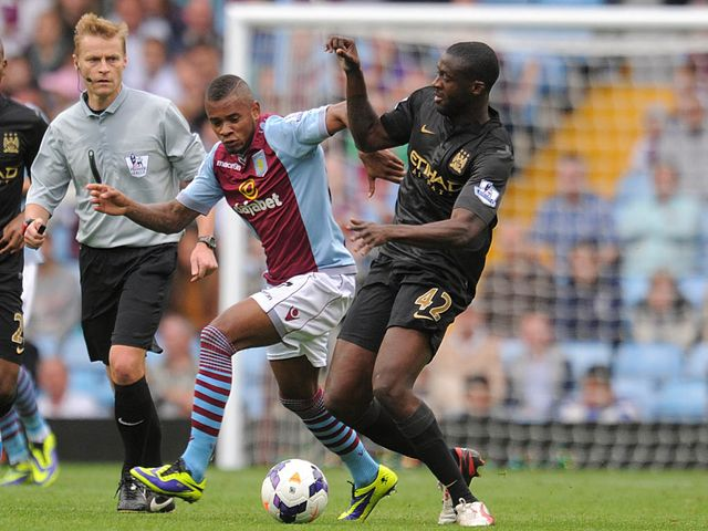 Leandro Bacuna tangles with Yaya Toure
