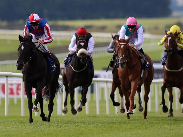 Belle De Crecy leads Hot Snap over the line