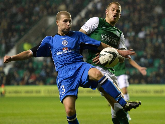 James Collins clashes with Lloyd Kinnaird.