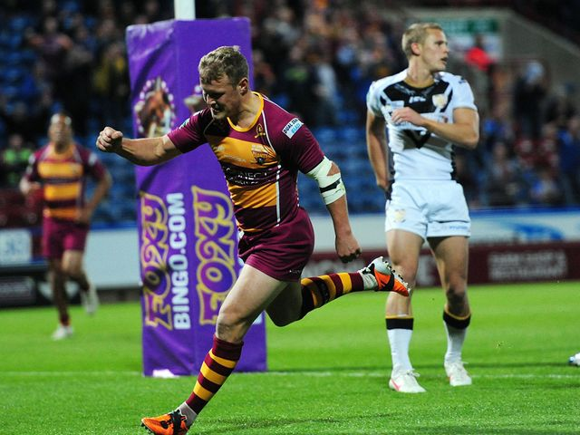 Luke Robinson scored four tries for Huddersfield