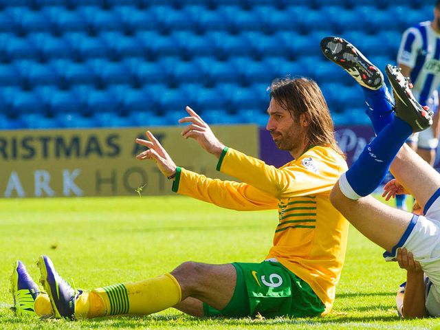 Samaras celebrates after completing his hat-trick
