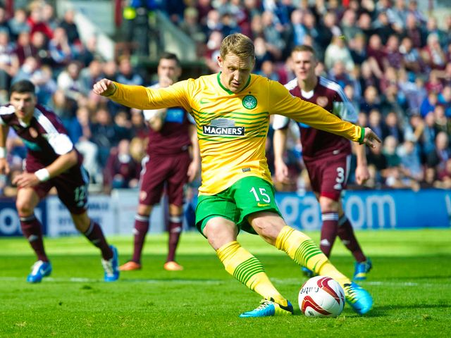 Kris Commons gives Celtic the lead from the penalty spot