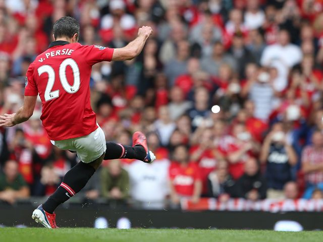 Robin van Persie scores from the penalty spot