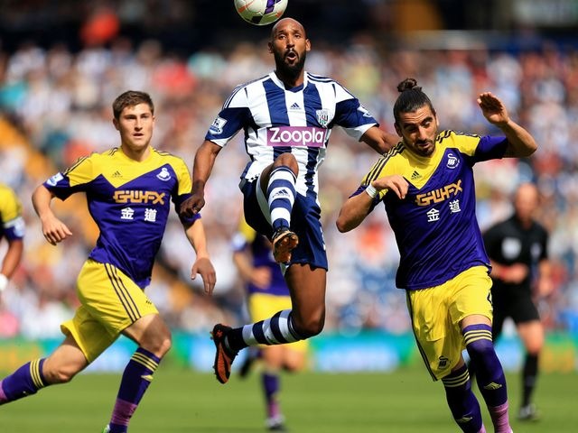 Nicolas Anelka in action for West Brom.