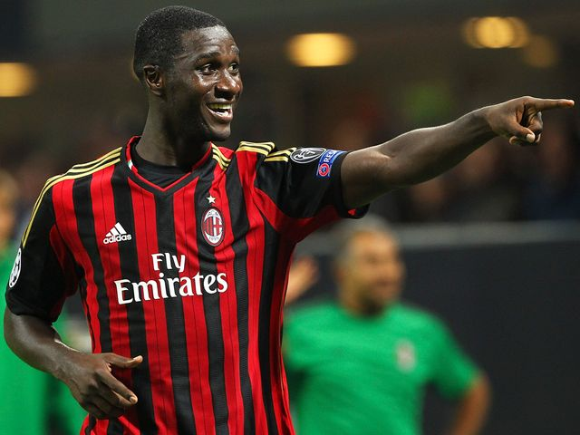 Cristian Zapata celebrates his goal for AC Milan