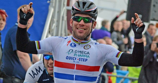 Mark Cavendish sprinted to his first win of this year's Tour of Britain
