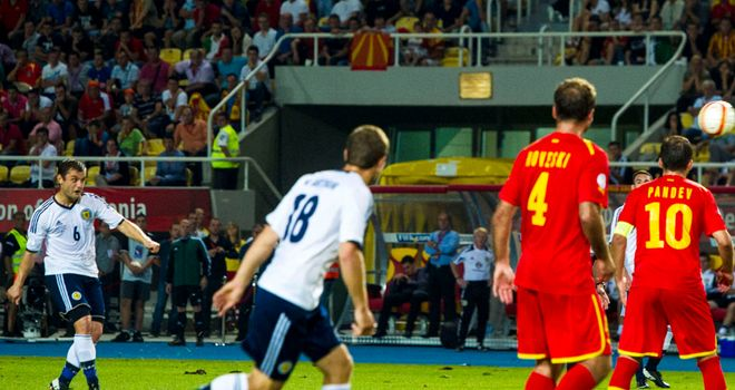 Shaun Moloney: Hits late winner for Scotland against Macedonia