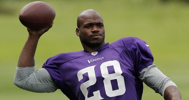 Adrian Peterson: Still might play for the Vikings on Sunday