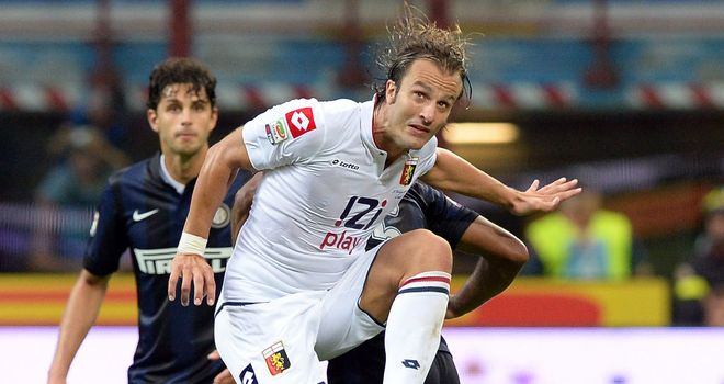 Alberto Gilardino: His header claimed three points for Italy