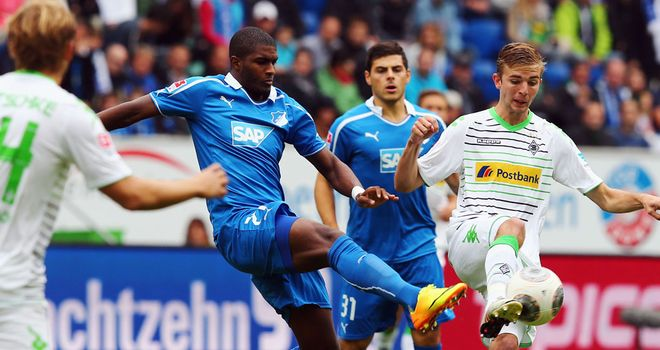 Anthony Modeste in action for Hoffenheim