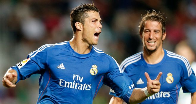 Cristiano Ronaldo: Celebrates Real Madrid's late winner
