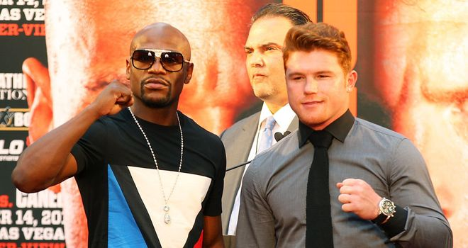 The One: Mayweather and Alvarez will go toe-to-toe in the early hours of Sunday morning