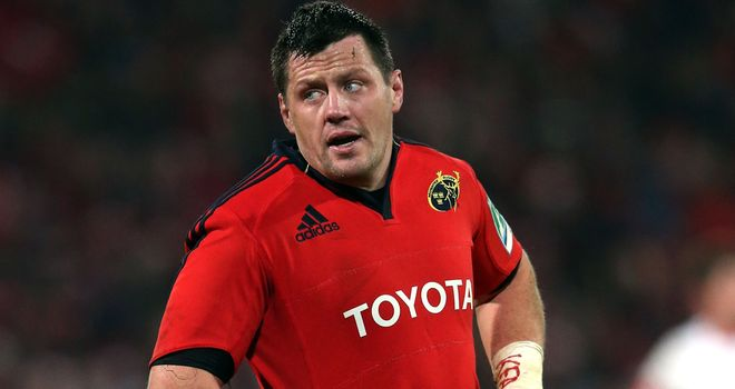 James Coughlan: The Munster skipper crossed for a try