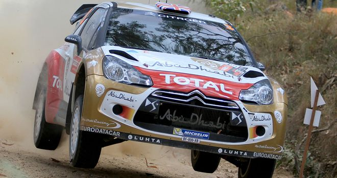 Kris Meeke in Australia - before his rally came to an abrupt end