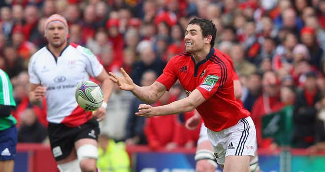 Felix Jones: Crossed for a Munster try