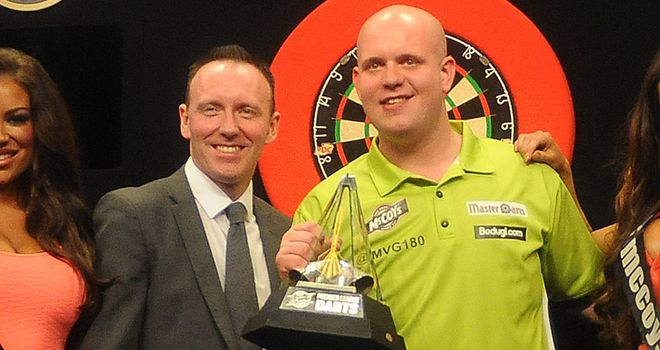 The 2013 champion Michael van Gerwen