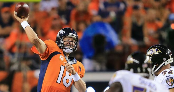 Peyton Manning: Threw seven touchdown passes for the Broncos