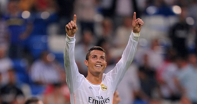 Ronaldo scored two goals in Real Madrid's victory