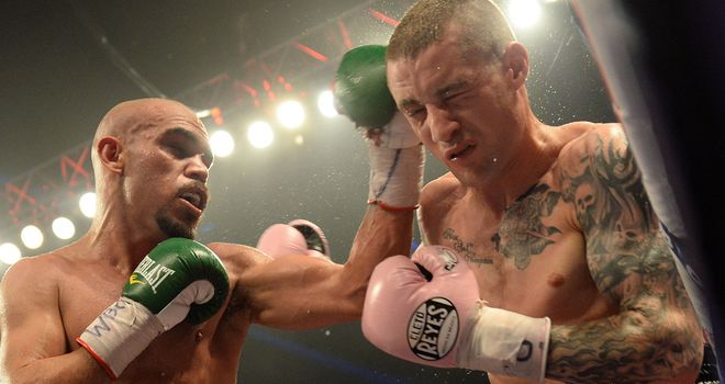 Ricky Burns (right): A gruelling fight against the lively Mexican
