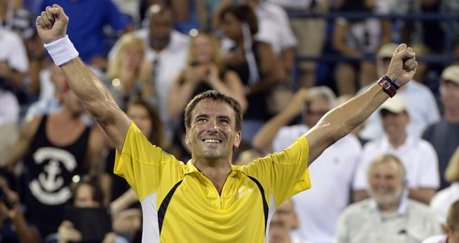 Tommy Robredo: Beat Roger Federer during the US Open last year