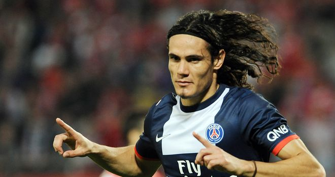 Edinson Cavani: Bagged a brace for PSG