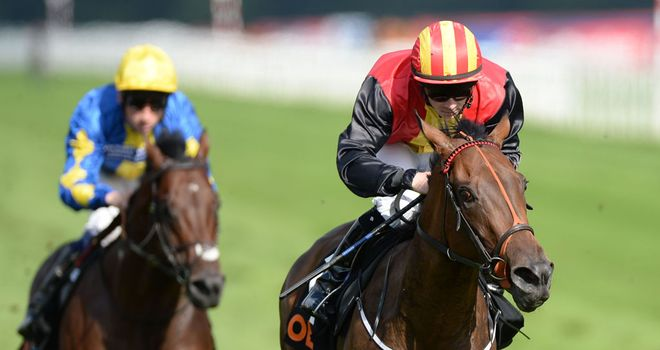 Viztoria (right): Could head for Amethyest Stakes at Leopardstown