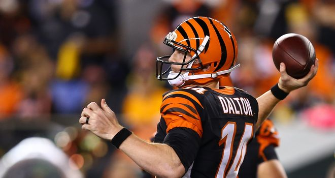 Andy Dalton: Starred against the Buffalo Bills - can he do the same against the Lions?