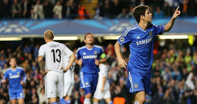 Juan who? Oscar scored Chelsea's opener and was named Man of the Match on Saturday