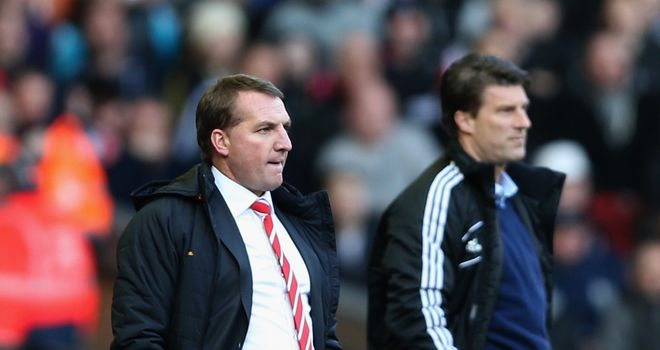 Brendan Rodgers and Michael Laudrup: Liverpool meet Swansea on Monday Night Football