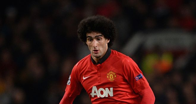 Marouane Fellaini: Proved vital in creating space for Wayne Rooney against Leverkusen