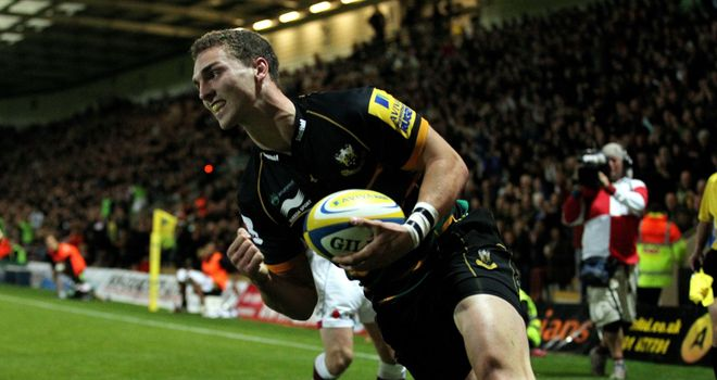 George North: Crossed for his first try in Northampton colours
