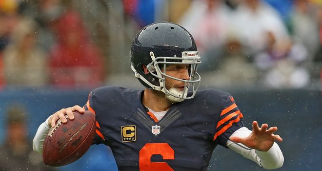 Jay Cutler: Threw late touchdown pass to Martellus Bennett