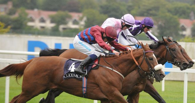 Lily's Angel (centre): Narrowly denied in Matron Stakes