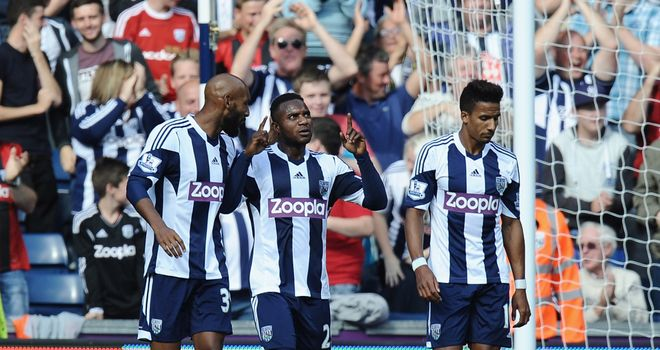Stephane Sessegnon: Muted celebration for debut Baggies goal