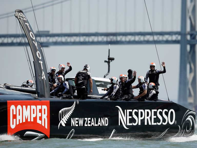 Team New Zealand almost capsized as they suffered defeat