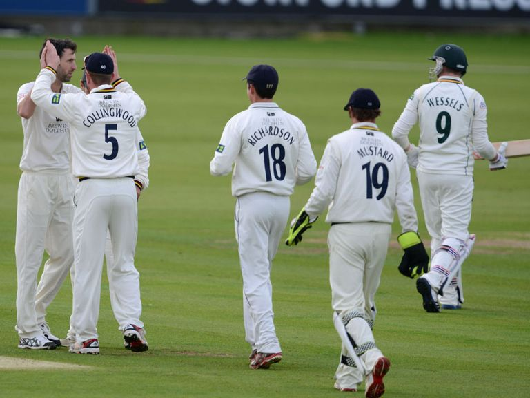 Graham Onions (left) again led the way for Durham