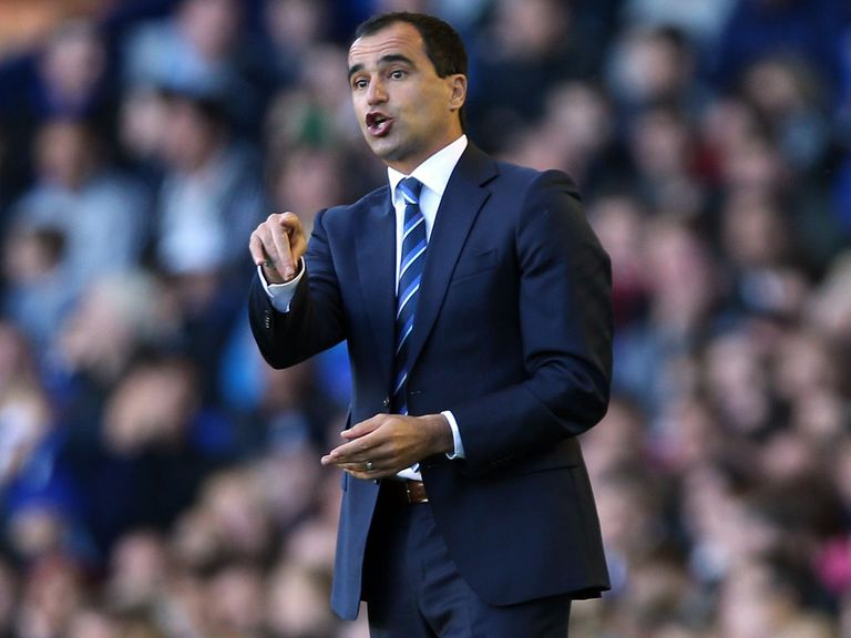 Roberto Martinez: Happy with progress at Everton