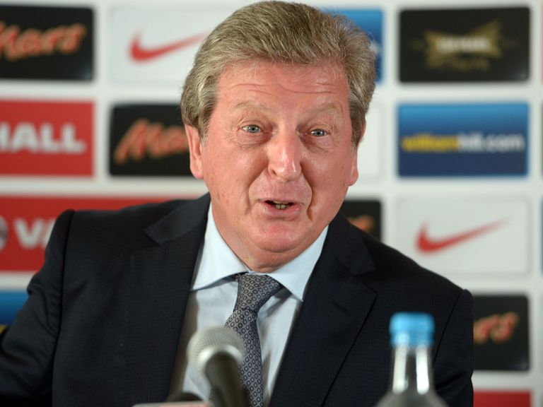 Roy Hodgson talks to the press on Thursday.