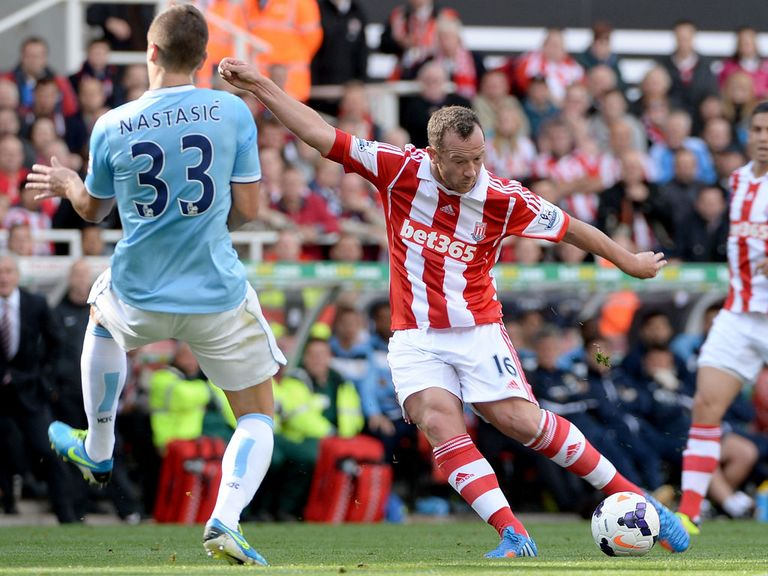 Charlie Adam in action against Manchester City