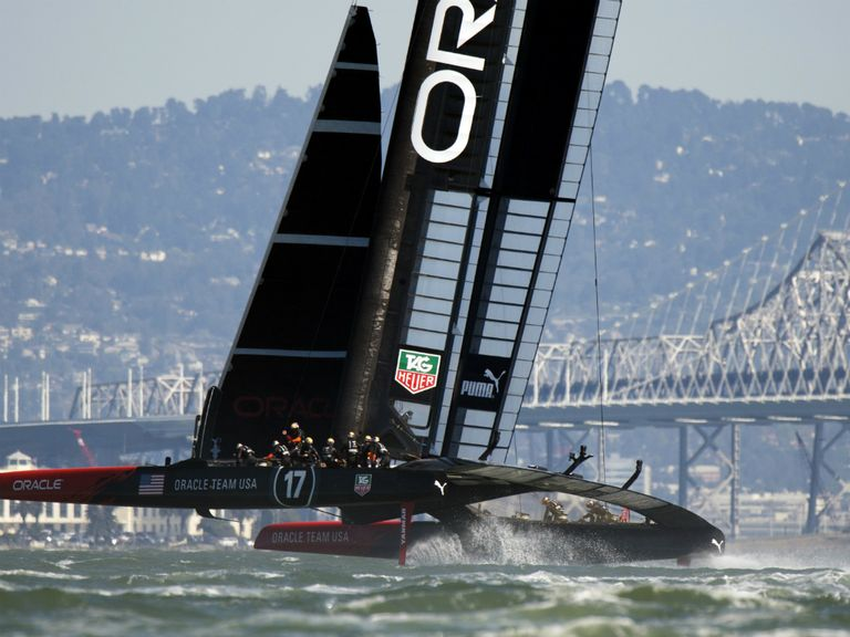 Oracle Team USA : Keeping their feet on the ground