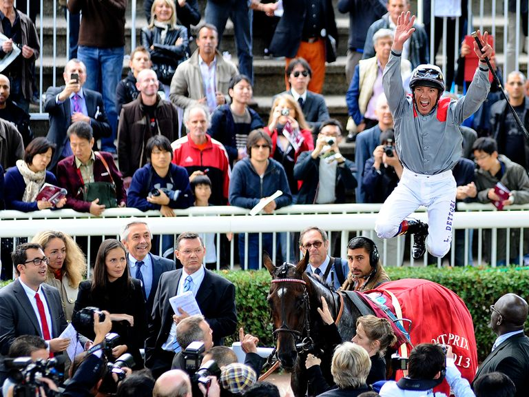Dettori celebrates success as only he knows how