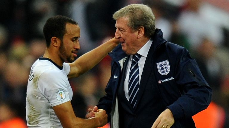 Andros Townsend (left): Hoping to impress manager Roy Hodgson again